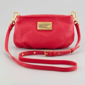 Marc By Marc Jacobs Pink Leather Percy Crossbody